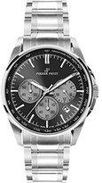 Pierre Petit Men's P-786D Serie Le Mans Black Dial Stainless-Steel Chronograph Tachymeter Watch