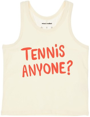 Mini Rodini Tennis Print Organic Cotton Tank Top