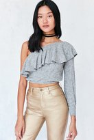 Silence & Noise Silence + Noise Ashling Ruffle One Shoulder Top