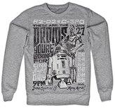 Star Wars Sweatshirt Droids Night new Official Mens