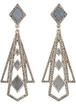 Lulu Frost Women's Antique Gold Plated Odeon Statement Earrings