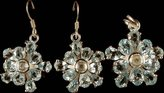 Exotic India Fine Cut Topaz Pendant & Earrings Set - Sterling Silver