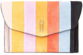 Hayward striped clutch - women - Calf Suede - One Size