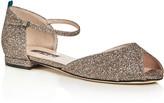 Sarah Jessica Parker Ursula Glitter d'Orsay Peep Toe Flats