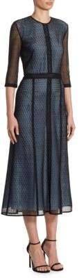 Victoria Beckham Paneled Midi Dress