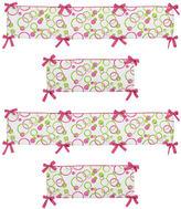 JoJo Designs Sweet Circles Pink Collection Crib Bumper
