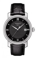 Tissot Men's Swiss Quartz Stainless Steel and Leather Casual Watch, Color:Black (Model: T0974101605800)