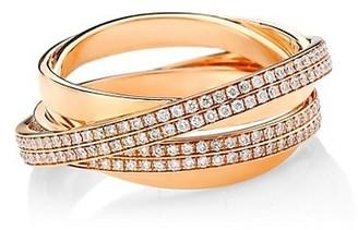 Repossi Berbere 18K Rose Gold & Pave Diamond Ring