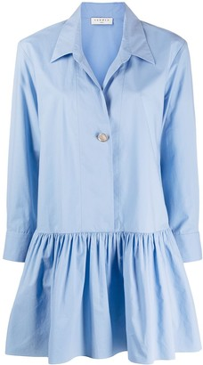 Sandro Cordelia drop-waist mini shirt dress