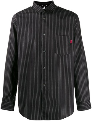 Supreme Cdg Pinstripe Button Up Shirt