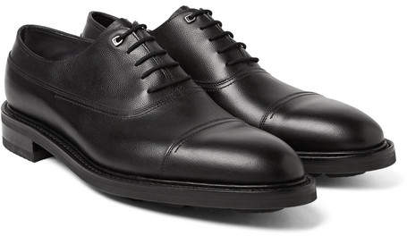 John Lobb Weir Panelled Leather Oxford Shoes - Black