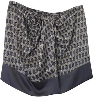 Pinko Grey Silk Skirt for Women
