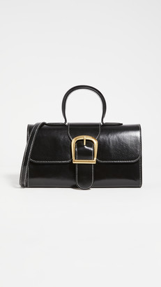 Rylan Black with Ivory Stitch Small Satchel
