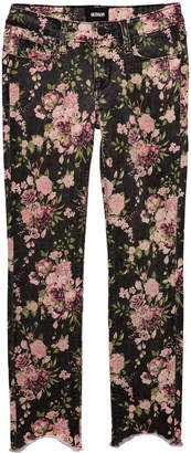 Hudson Girls' Dixie Floral-Print Skinny Jeans, Size 7-16