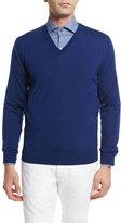 Ermenegildo Zegna High-Performance Wool Sweater, Bright Blue