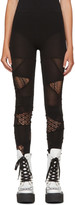 Junya Watanabe Black Multi Panel Jersey Leggings