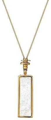 Gas Bijoux Serti Cage Crystal Pendant Necklace