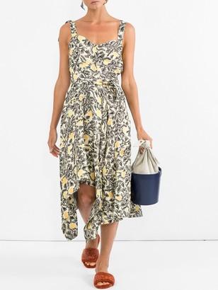 Proenza Schouler Asymmetrical Dress Multicolor