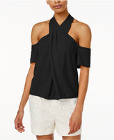 Rachel Roy Cold-Shoulder Halter Top, Only at Macy's