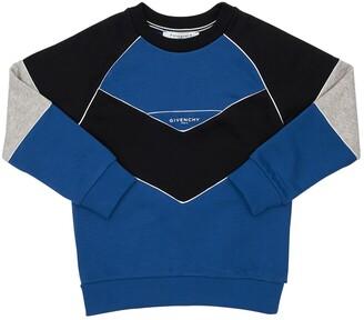 Givenchy Color Block Cotton Blend Sweatshirt
