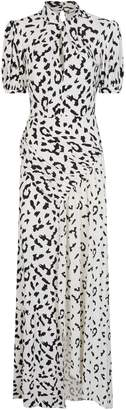 Self-Portrait Self Portrait Leopard Print Maxi Dress