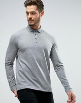 HUGO BOSS HUGO by Dirage Long Sleeve Polo Pique Double Collar Slim Fit