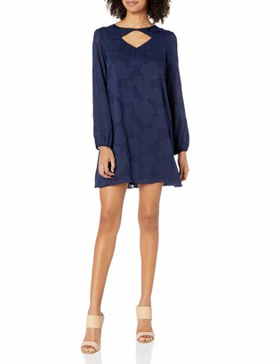 BCBGeneration Women's Long Sleeves Shirt Dress with Cut Out