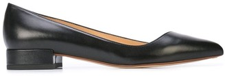Francesco Russo Pointed Toe Ballerina Shoes