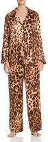 Natori Leopard Print Notch Collar Pajama Set