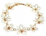 Women's Metal Flower Choker Necklace - Gold