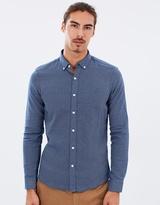 Brooksfield Textured Dobby LS Shirt