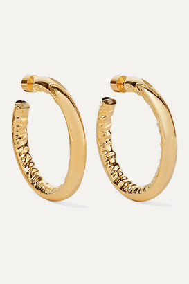 "Jennifer Fisher 1.5"" Baby Jennifer Gold-plated Hoop Earrings - one size"