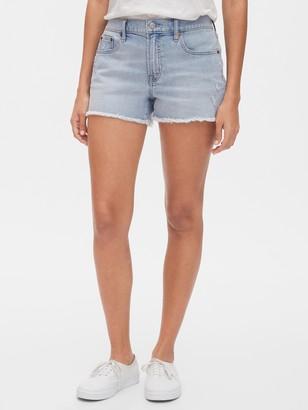 Gap Distressed Mid Rise Denim Shorts