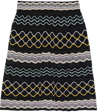 M Missoni Embroidered Crocheted Cotton-blend Skirt