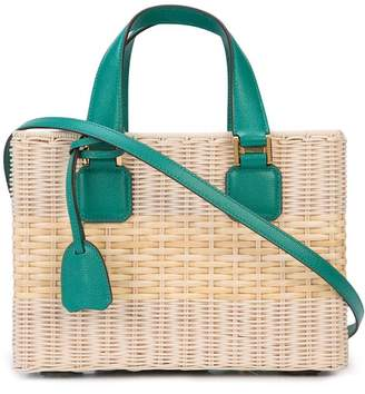 Mark Cross contrast details tote