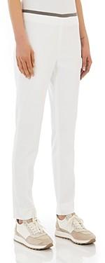 Peserico Ribbon Trim Side-Zip Pants