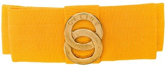 Celine Pre Owned satin tie logo hair barrette
