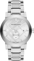 Burberry 42mm Stainless Steel City Bracelet Watch, Silver