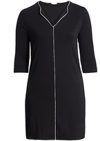 Thumbnail for your product : Joan Vass, Plus Size Contrast Piping Shift Dress