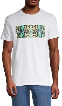 Roberto Cavalli Snake Graphic Logo T-Shirt