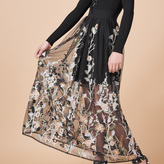 Maje Long skirt with embroidery