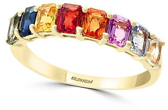 Effy 14K Yellow Gold and Multi-Colored Sapphire Ring