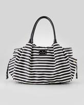 Kate Spade Stevie Striped Large Diaper Bag, Black/Cream