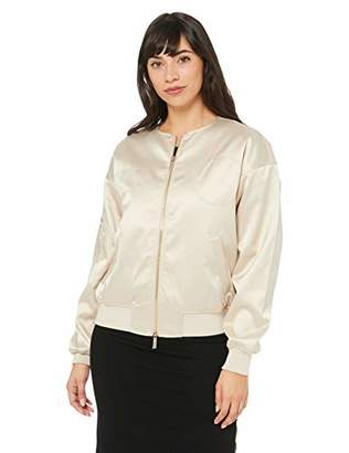 Armani Exchange A|X Women's Light Bomber Jacket Front and Arm Zipper Detail