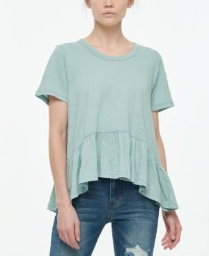 Vanilla Star Juniors' Short-Sleeve Peplum T-Shirt