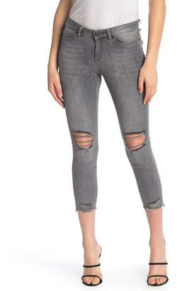 Noisy May Lucy Destroyed Ankle Distressed Skinny Jeans