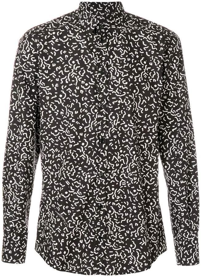 Dolce & Gabbana wiggle print shirt