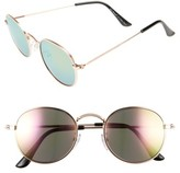 A. J. Morgan Women's A.j. Morgan Deliverance 50Mm Sunglasses - Gold/ Pink Mirror