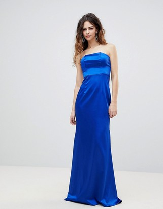 Bariano Bandeau Satin Maxi Dress