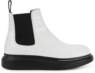 Alexander McQueen 40 White Rubber Chelsea Boots